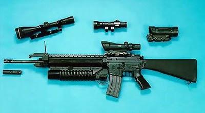 Assault Rifle M16A3 Point Blank
